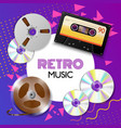 realistic vintage music composition vector image