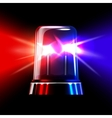 Red and blue emergency flashing siren vector image