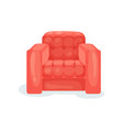 red comfortable armchair living room furniture vector image vector image