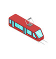 red streetcar isolated isometric 3d icon vector image