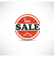 retro vintage grunge label last sale vector image vector image