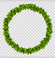 ring garland green leaves template vector image vector image