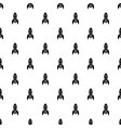 rocket retro pattern seamless vector image vector image