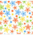 seamless colorful stars pattern vector image