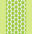 seamless pattern fruit kiwi piece with shadow on vector image