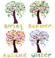 season trees vector image