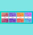 set abstract circle colorful minimal covers vector image vector image