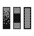 set decorative panels for laser cutting vector image vector image
