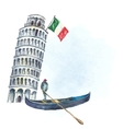 Set of Italy icons watercolor vector image vector image