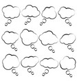 simple bubble speech clouds on white background vector image vector image