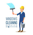 skyscraper cleaning service man with vector image