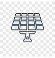 solar panel concept linear icon isolated on vector image