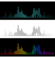 sound graph style marseille skyline vector image