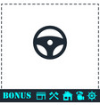 steering wheel icon flat vector image vector image