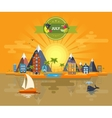 Summer landscape Small town vector image vector image