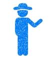Talking Gentleman Grainy Texture Icon vector image vector image
