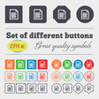 Text file icon sign Big set of colorful diverse vector image vector image