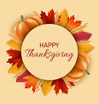 thanksgiving concept banner realistic style vector image