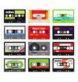 Vintage cassette tapes vector image vector image