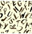 alphabet pattern Hand drawn lettersfont vector image