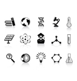 black science icons vector image