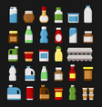 product items set food and drinks icons vector image