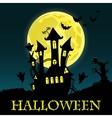Happy Halloween Card Template vector image