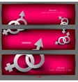 abstract banners with male female symbol vector image