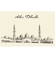 Abu Dhabi mosque Sheikh Zayed Mosque drawn vector image vector image