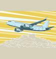 air transport passenger aircraft flying above