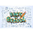 back to school background to use for advertiments vector image vector image