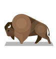 bison in a minimalist style vector image