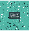 blue terrazzo texture pattern background vector image vector image