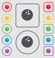 Bowling game ball icon sign symbol on the Round vector image vector image