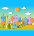 building of big city vector image