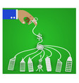 businessman controls the economy vector image vector image