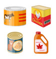 can and food sign set of vector image