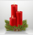 candle christmas house decoration red celebration vector image