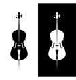 Cello in black and blue colors vector image vector image