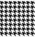 classic dogstooth classic seamless pattern vector image