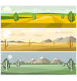 colorful landscapes nature vector image vector image
