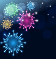 colroful fireworks vector image vector image