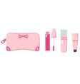 cosmetics bag one vector image vector image
