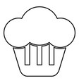 cupcake icon black color flat style simple image vector image vector image