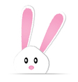 cute bunny card easter day vector image vector image