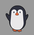 cute penguin cartoon icon vector image vector image