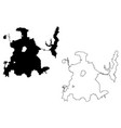 dallas city map vector image