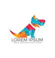 dog sign - logo vector image vector image