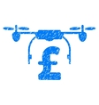 Drone Pound Business Grainy Texture Icon vector image vector image