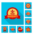 emblem and badge sign set vector image vector image